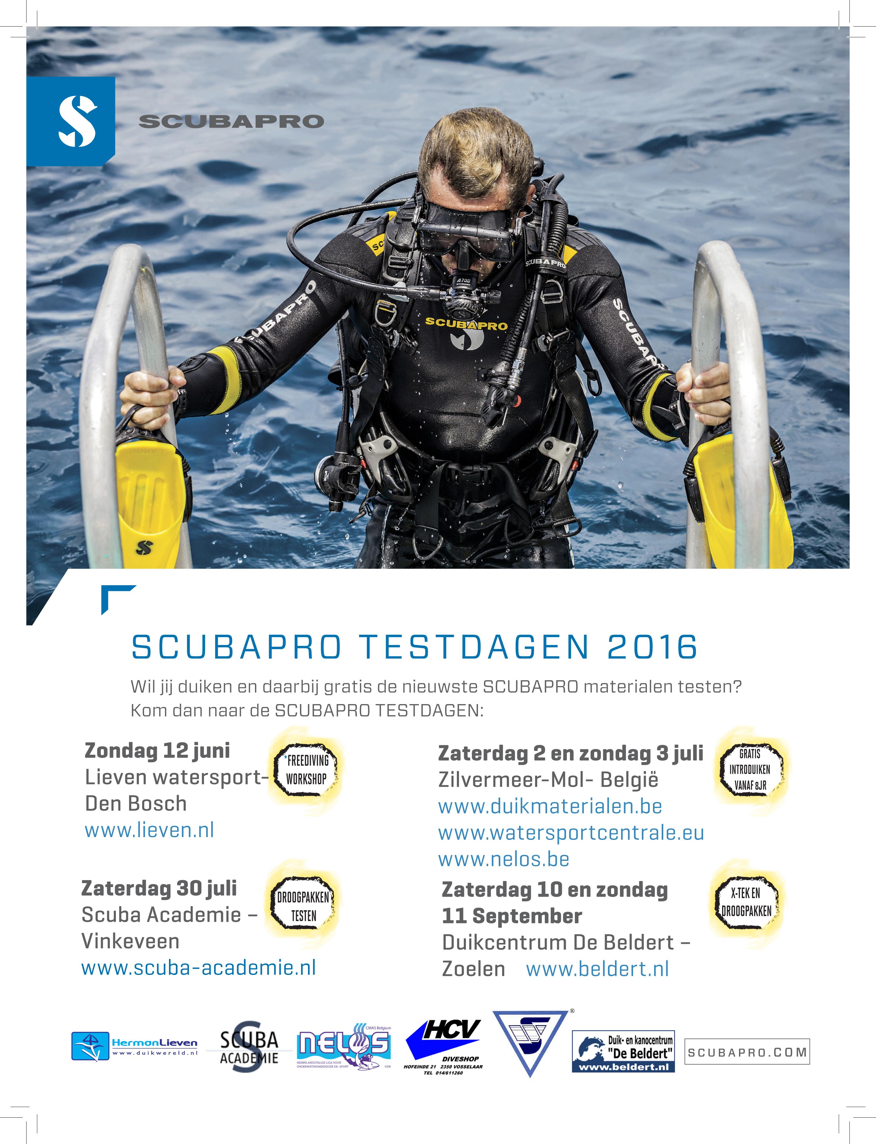 2016 DUIKEN NL 225 X 300 3MM SCUBAPRO DAYS.indd