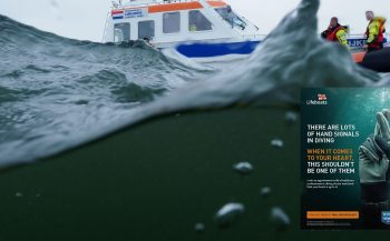 Bas Brand - KNRM-reddingsactie van duikers - oefening op zee