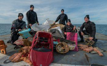 Expeditie Borkumse Stenen 2019 - 2500 kilo afval geborgen