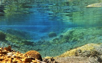 Berthold Raadsen - Oppervlaktespiegel bij Saba