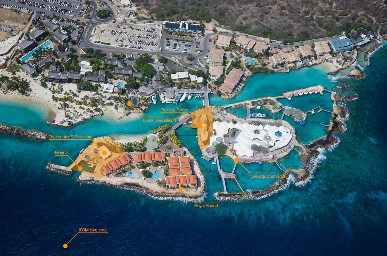 Sub Center Curaçao - Aerial View