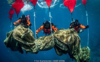 Grootse schoonmaakactie van Ghost Diving en Healthy Seas bij Ithaca