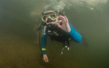 Brenda de Vries - Geslaagde Junior duik