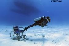 Duiken met een handicap – een uur 'gezond'