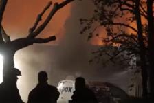 Pand APOX door brand verwoest