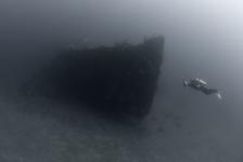 Wrakken in de baai van Manokwari