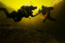 Schoon duiken in Vinkeveen