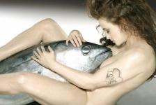 Naakt poseren voor de Noordzeevis