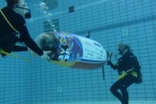Delftse studenten breken record 'mensaangedreven onderzeeër'
