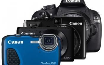 Nieuw: Canon EOS 1200D, Powershot G1 X MII, D30 en S200
