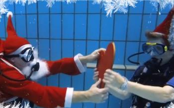 In beeld: 'Last Christmas' onder water
