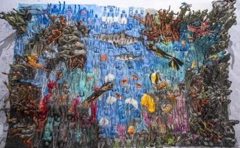 Wereldrecord bodypainting - Een 'schilderij' van de oceaan