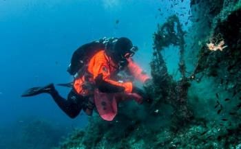 In beeld: Ghost Fishing-missie in Malta