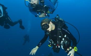 Koning Willem-Alexander en koningin Maxima duiken onder bij Saba