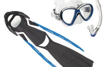 Wie wint de Aqua Lung set vinnen, masker en snorkel?