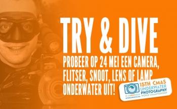 Try & Dive: probeer gratis een camera, flitser, snoot, lens of lamp onder water uit!