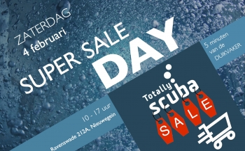 Super Sale Day bij Totally Scuba