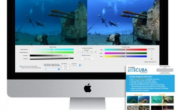 'VividPix correctiesoftware' bij DuikeninBeeld op Belgische Duiksportbeurs