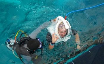 An underwater walk