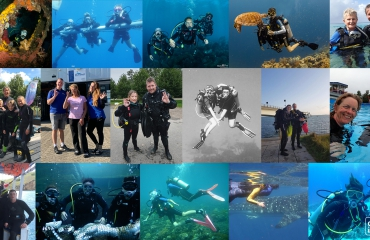 Moederdag - 17 duikende moeders