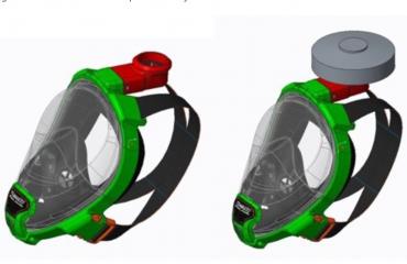Innovatief - Snorkelvolgelaatsmasker ombouwen tot persoonlijk beschermingsmiddel