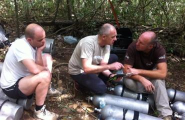 Overleg in Base Camp