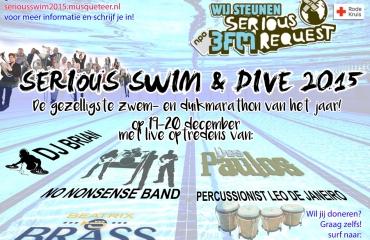 19 uur zwemmen en duiken voor 3FM Serious Request