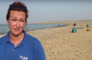 SummerLabb in Egypte: Strandschoonmaak