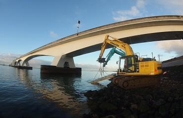 Nieuwe duiktrap voor de Zeelandbrug