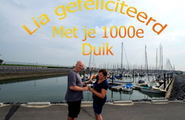 John Landa - De 1000e duik voor Lia
