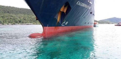 Cruiseschip ramt rif in Raja Ampat