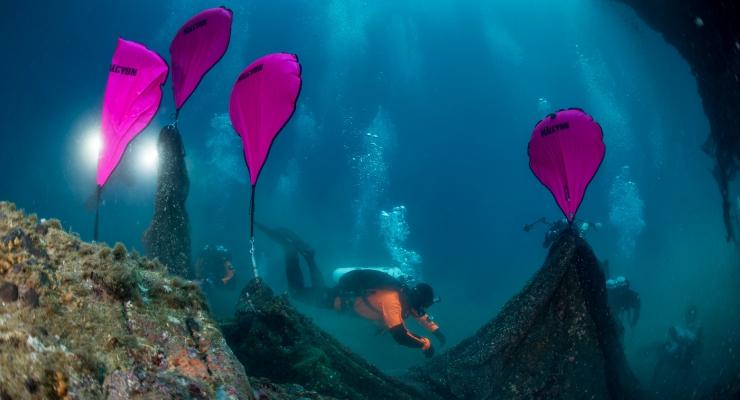 Ghost Fishing-duikers halen 2 ton aan netten uit Griekse zee