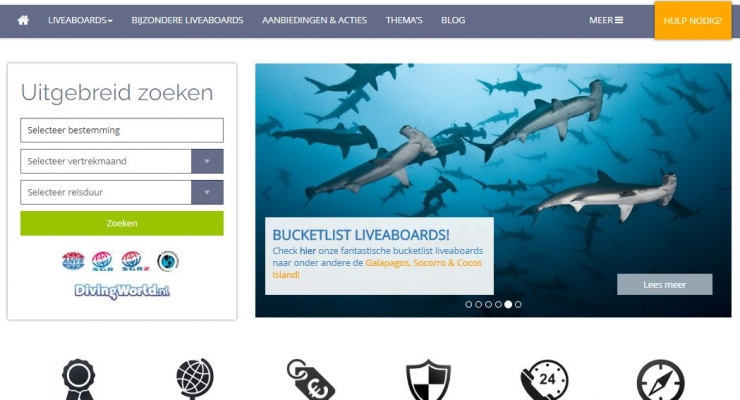 Diving World lanceert vernieuwde website Liveaboards.nl