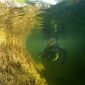 Onder water in Salzkammergut