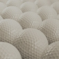 Bang voor golfbal